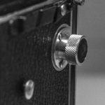 The Rolleiflex old standard - Film adjust knob.