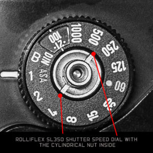 Rolleiflex SL350 - Shutter Speed Dial