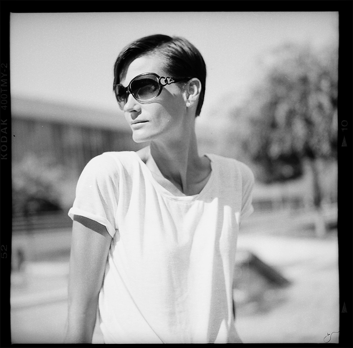 Portrait of a famous Hungarian Athlete - Rolleiflex 2.8F