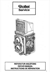 Rolleiflex Repair Manual cover