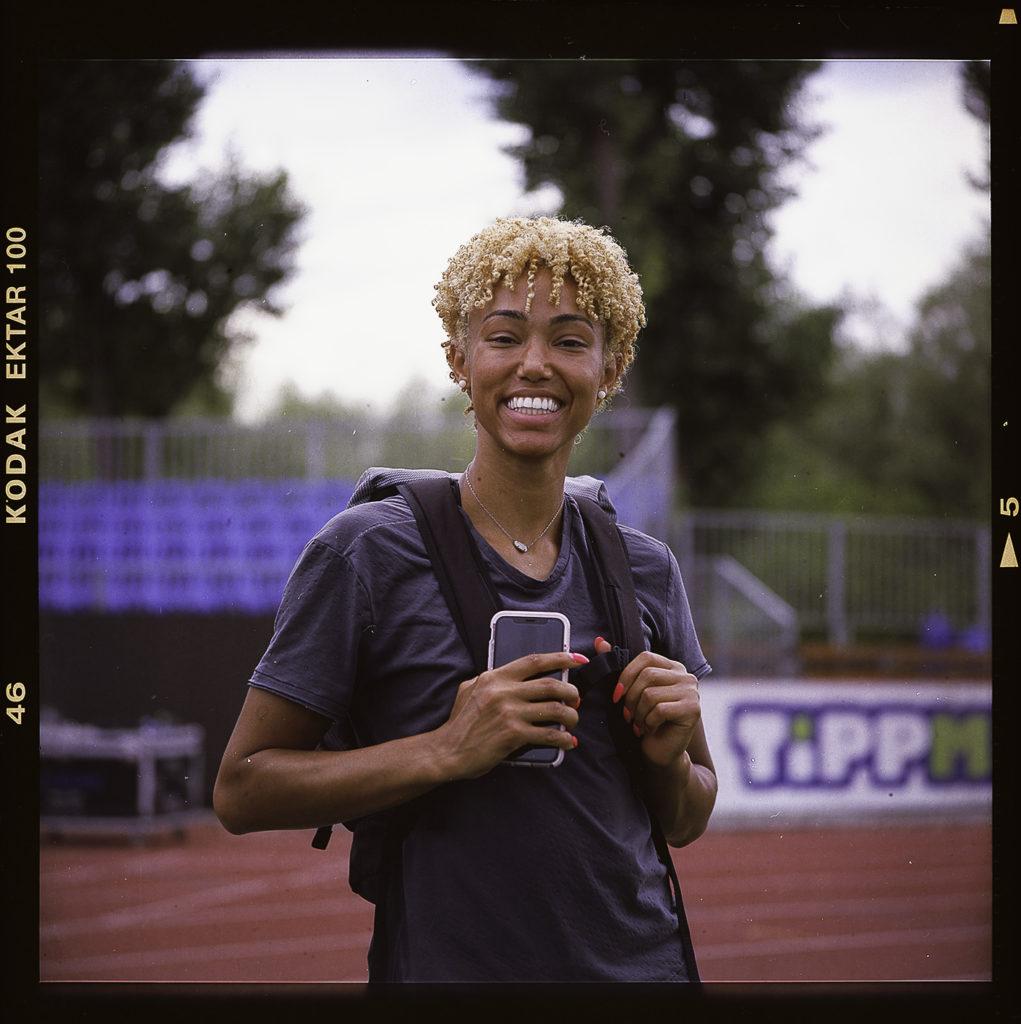 American sprinter Shania Collins